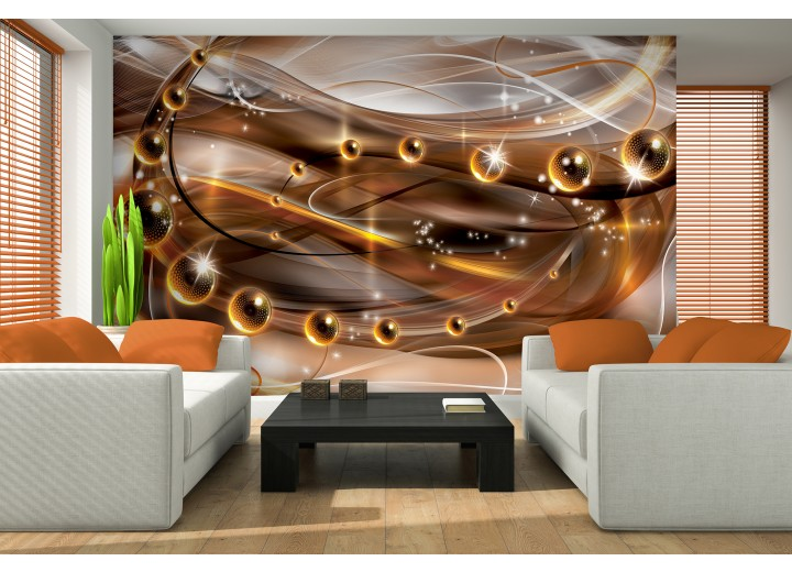 Fotobehang Papier 3D, Design | Bruin | 368x254cm