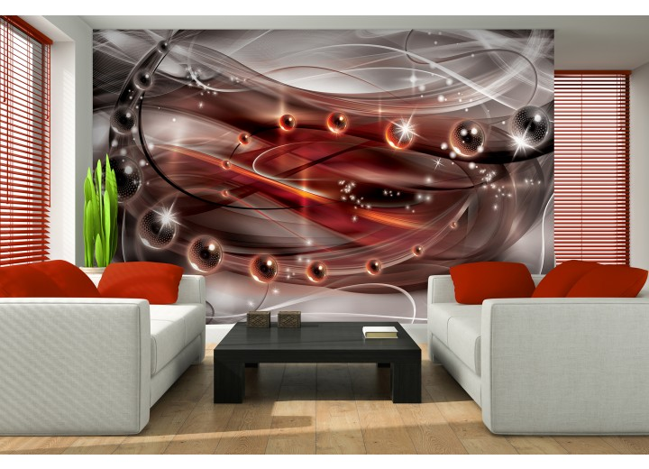 Fotobehang 3D, Design | Rood | 416x254