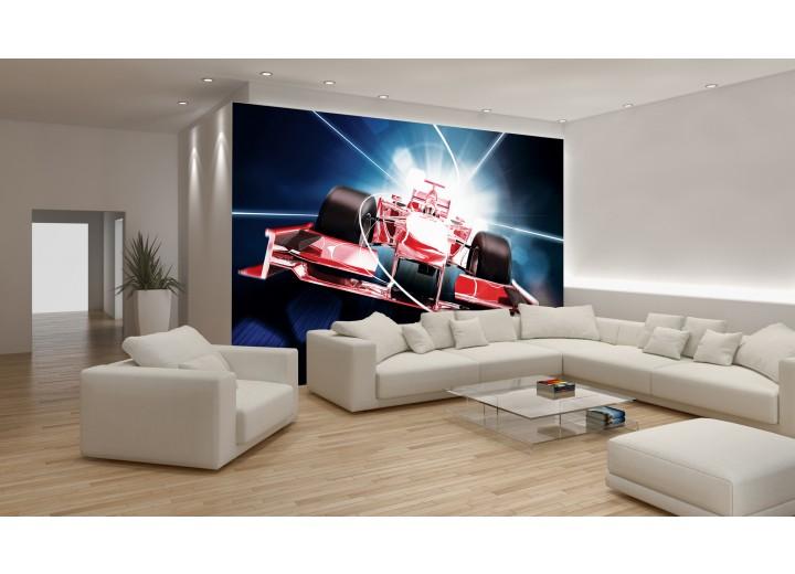 Fotobehang Formule 7 | Rood | 312x219cm