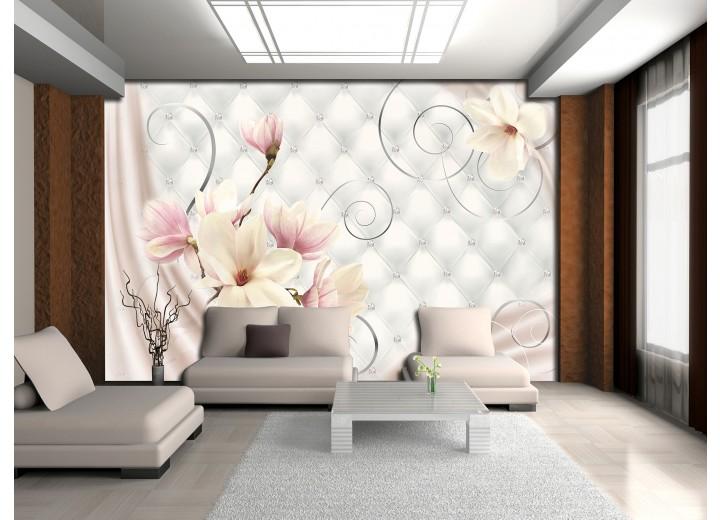 Fotobehang Magnolia, Modern | Roze | 104x70,5cm