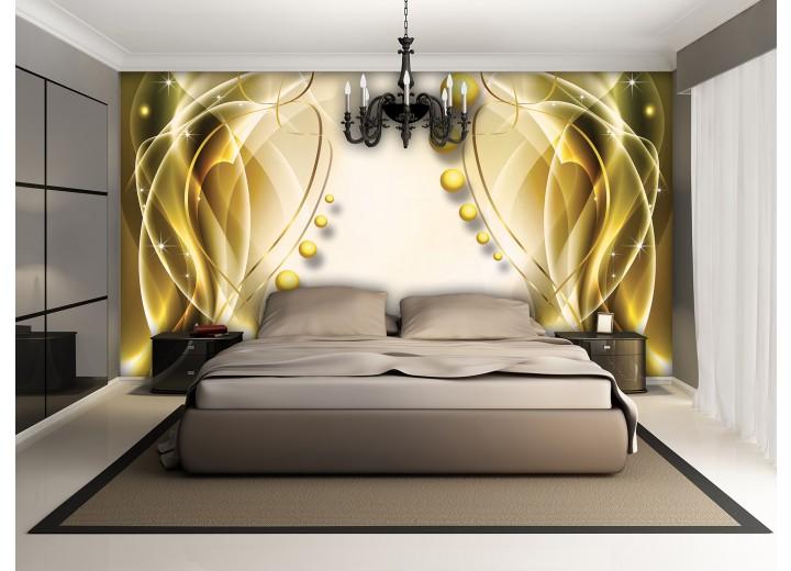 Fotobehang Vlies | Modern | Goud, Geel | 368x254cm (bxh)