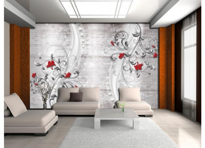 Fotobehang Modern | Rood, Grijs | 152,5x104cm