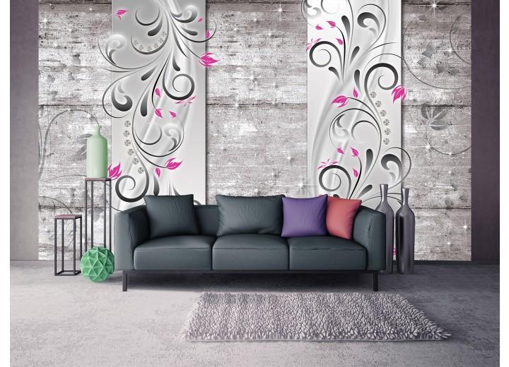 Fotobehang Modern, Hout | Roze | 416x254