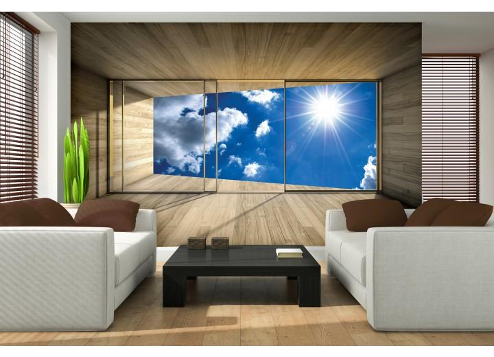 Fotobehang Lucht, Modern | Blauw | 208x146cm