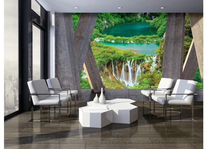 Fotobehang Vlies | Diepte, Natuur | Groen | 368x254cm (bxh)