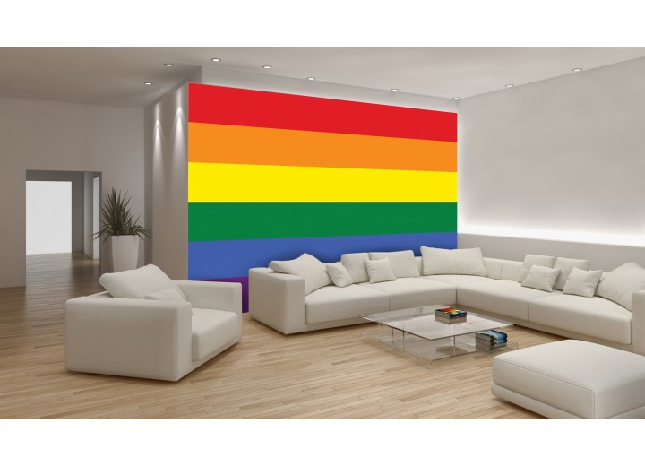 Fotobehang Vlag | Geel, Oranje | 312x219cm