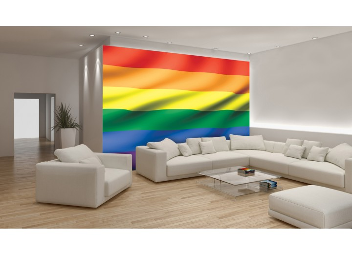Fotobehang Vlies | Vlag | Geel, Oranje | 368x254cm (bxh)