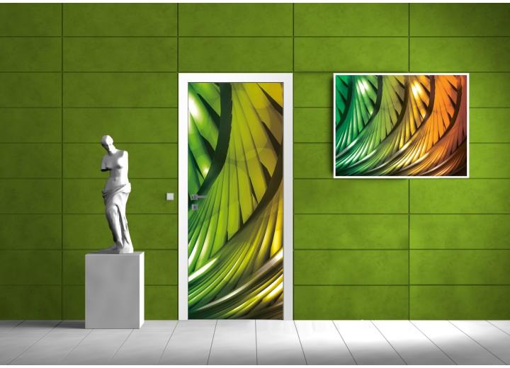 Fotobehang Abstract | Groen | 91x211cm