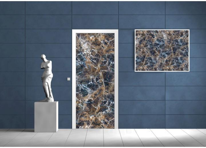 Fotobehang Steen | Blauw | 91x211cm