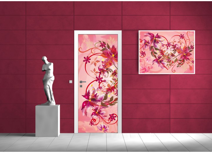 Fotobehang Abstract | Roze | 91x211cm