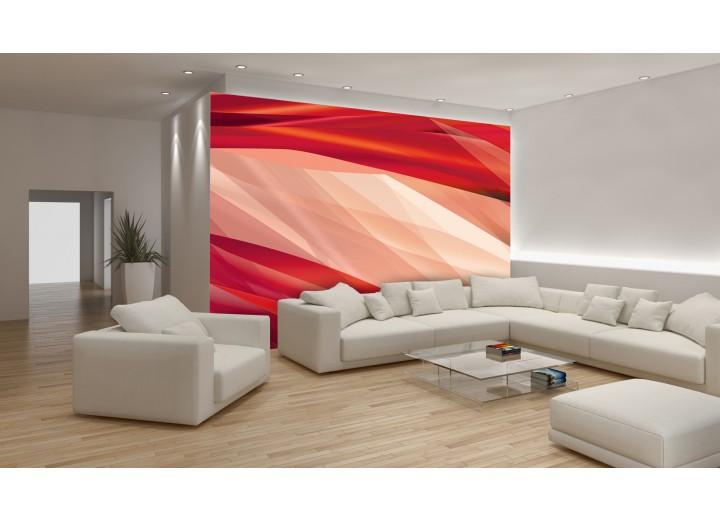 Fotobehang Abstract | Crème, Rood | 312x219cm