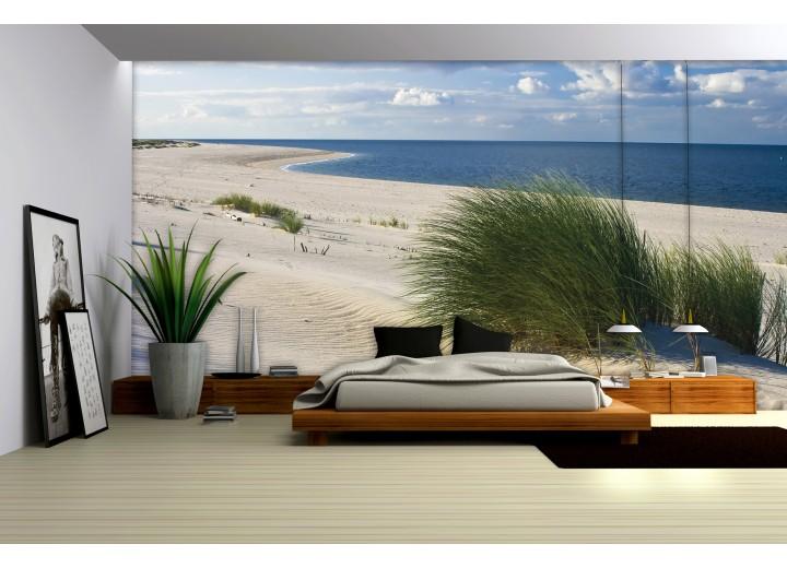 Fotobehang Vlies | Strand | Blauw | 368x254cm (bxh)