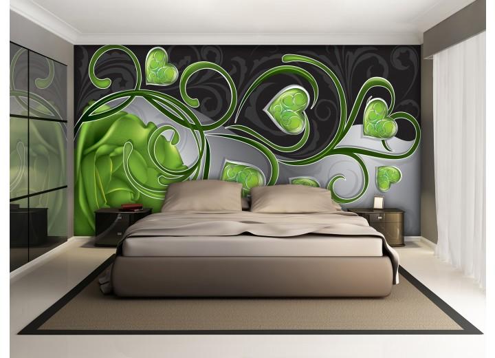 Fotobehang Art | Groen | 312x219cm