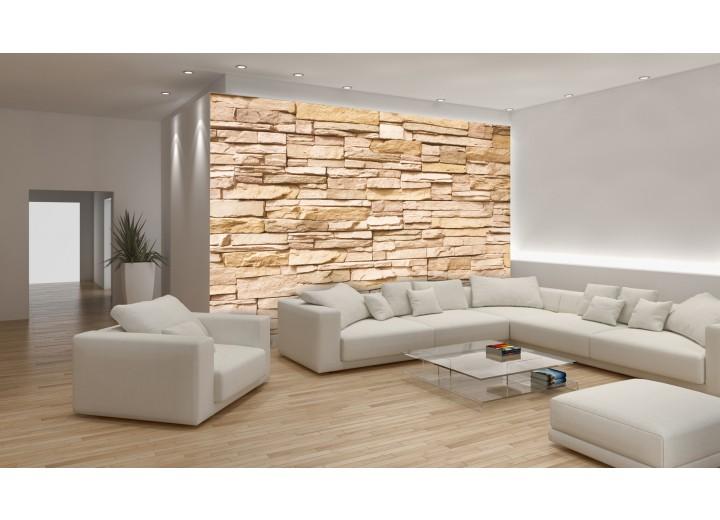 Fotobehang Brick | Crème | 312x219cm