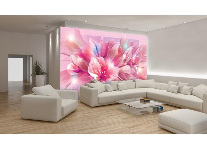 Fotobehang Vlies   Bloemen   Roze   368x254cm (bxh)