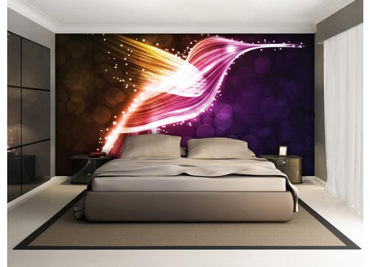 Fotobehang Kolibrie | Paars | 152,5x104cm