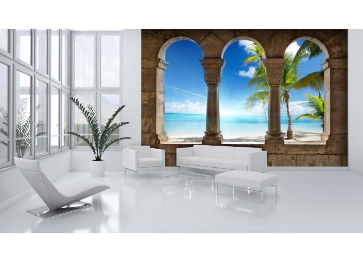 Fotobehang Tropisch | Blauw | 104x70,5cm