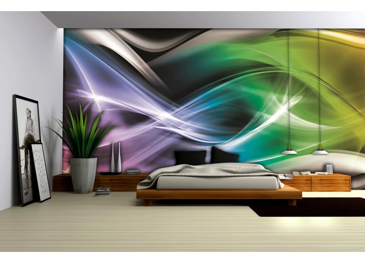 Fotobehang Vlies   Abstract   Groen   368x254cm (bxh)