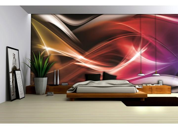 Fotobehang Vlies | Abstract | Rood | 368x254cm (bxh)