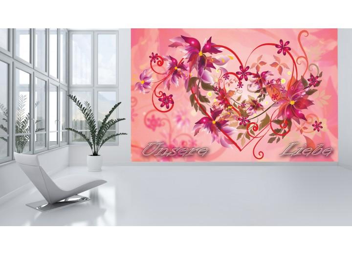 Fotobehang Vlies | Abstract | Roze | 368x254cm (bxh)