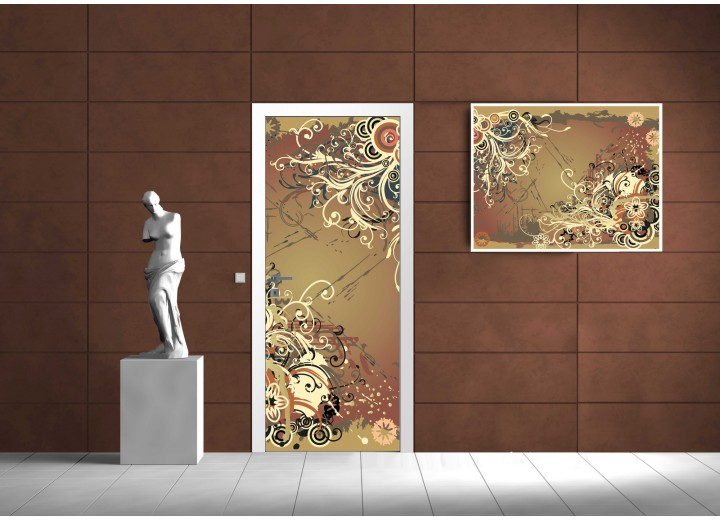 Fotobehang Modern | Bruin | 91x211cm