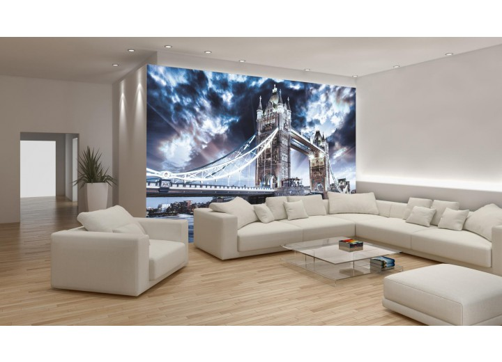 Fotobehang London | Blauw | 104x70,5cm