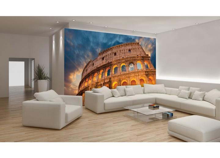 Fotobehang Rome | Oranje | 312x219cm
