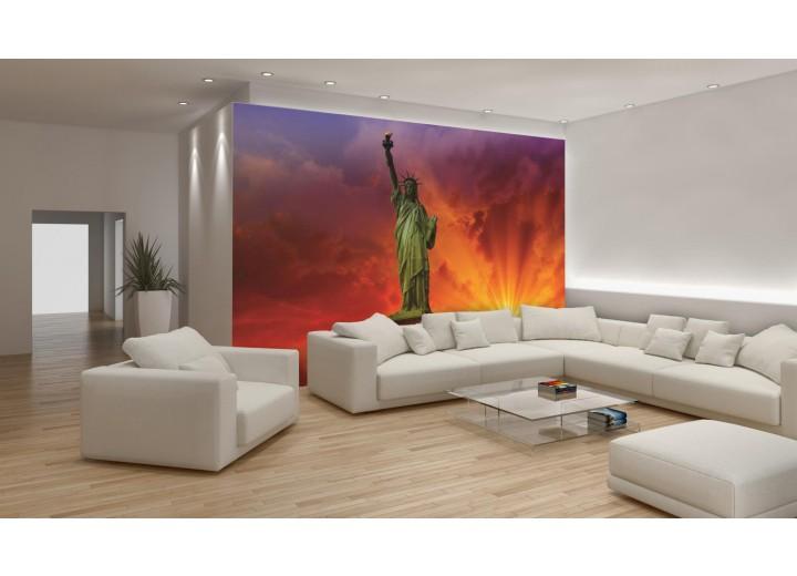Fotobehang New York | Rood | 104x70,5cm