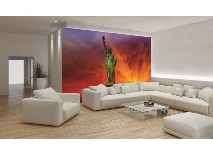 Fotobehang Vlies | New York | Rood | 368x254cm (bxh)