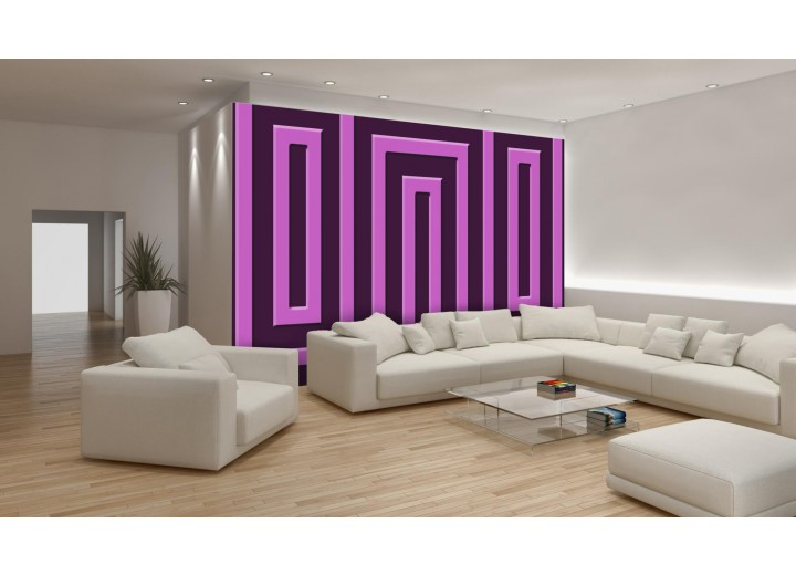 Fotobehang Vlies | Stenen | Roze, Zwart | 368x254cm (bxh)