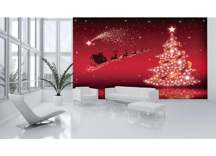 Fotobehang Vlies | Kerst | Rood | 368x254cm (bxh)