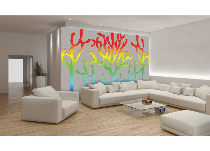 Fotobehang Abstract | Geel, Rood | 208x146cm