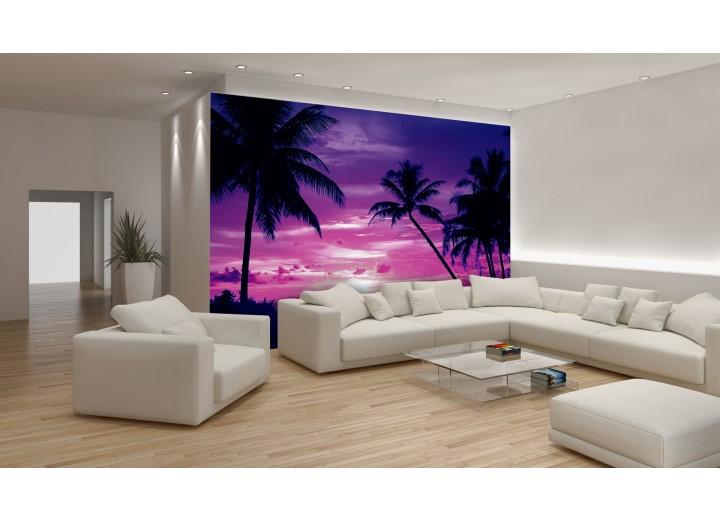 Fotobehang Tropisch | Paars | 152,5x104cm