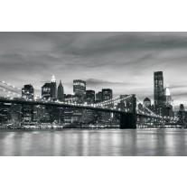 Fotobehang Papier New York | Zwart, Wit | 254x184cm