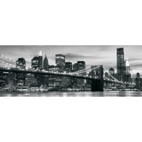 Fotobehang New York | Zwart, Wit | 250x104cm
