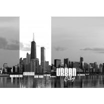 Fotobehang Papier Skyline | Zwart, Wit | 254x184cm