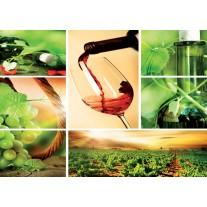 Fotobehang Papier Keuken, Landelijk | Groen | 254x184cm