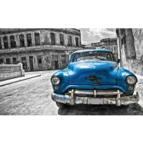 Fotobehang Papier Oldtimer, Auto | Blauw, Grijs | 368x254cm