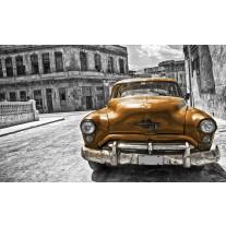 Fotobehang Papier Oldtimer, Auto | Grijs, Goud | 368x254cm
