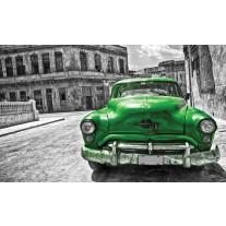 Fotobehang Papier Oldtimer, Auto | Grijs, Groen | 368x254cm