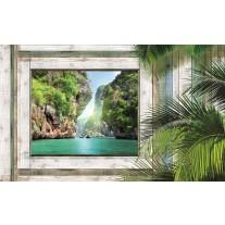 Fotobehang Papier Natuur | Groen, Grijs | 254x184cm