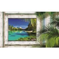 Fotobehang Natuur | Groen, Blauw | 152,5x104cm
