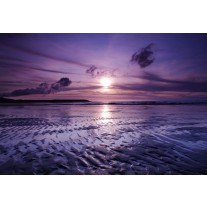 Fotobehang Papier Strand, Zee | Paars | 254x184cm