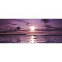 Fotobehang Strand, Zee | Paars | 250x104cm