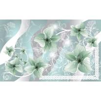 Fotobehang Papier Bloemen | Groen, Grijs | 368x254cm