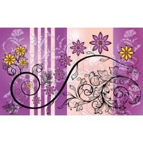 Fotobehang Papier Bloemen | Paars, Geel | 368x254cm