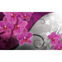 Fotobehang Papier Bloemen, Orchidee | Roze, Grijs | 254x184cm