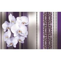 Fotobehang Papier Bloemen, Orchidee | Paars, Grijs | 254x184cm