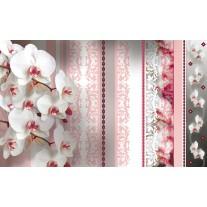 Fotobehang Papier Bloemen, Orchideeën | Roze | 254x184cm