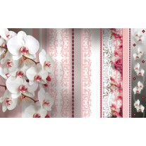 Fotobehang Papier Bloemen, Orchideeën | Roze | 368x254cm